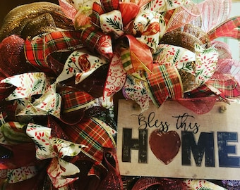 Fall and Christmas Country Wreath