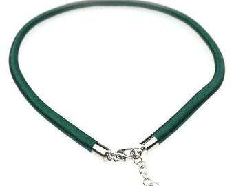 1 x 5mm forest green silk cord Choker