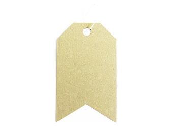 Jumbo Tag Set - Champagne Gold