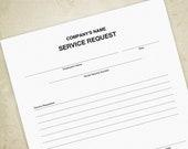 Service Request Printable...