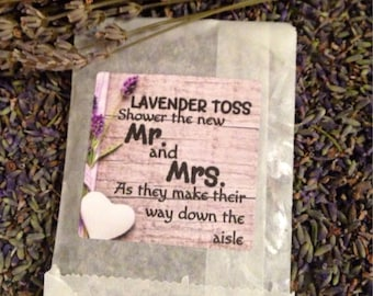 Lavender Toss- Dried lavender toss for wedding send off-exit- 25 finished lavender packets