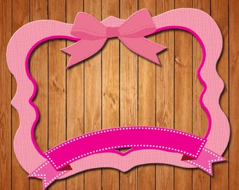 Bow themed party photo frame