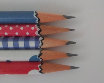 Hand wrapped pencils/ Americana set/ Patriot/ Old Glory/ red, white and blue/ 4th of July/ Graphite pencil/ HB 2/ office supplies/ Gift set