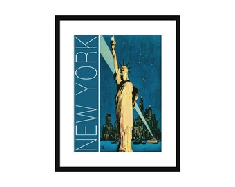 New York City Vintage Travel Poster – Print - Poster