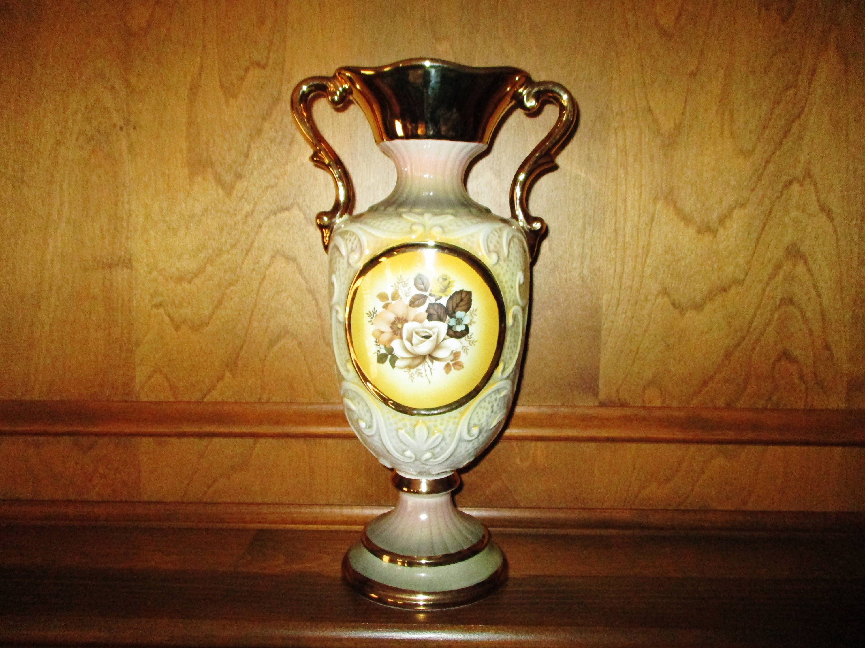 Ceramica le torri golden flower vase made in italy zoom reviewsmspy