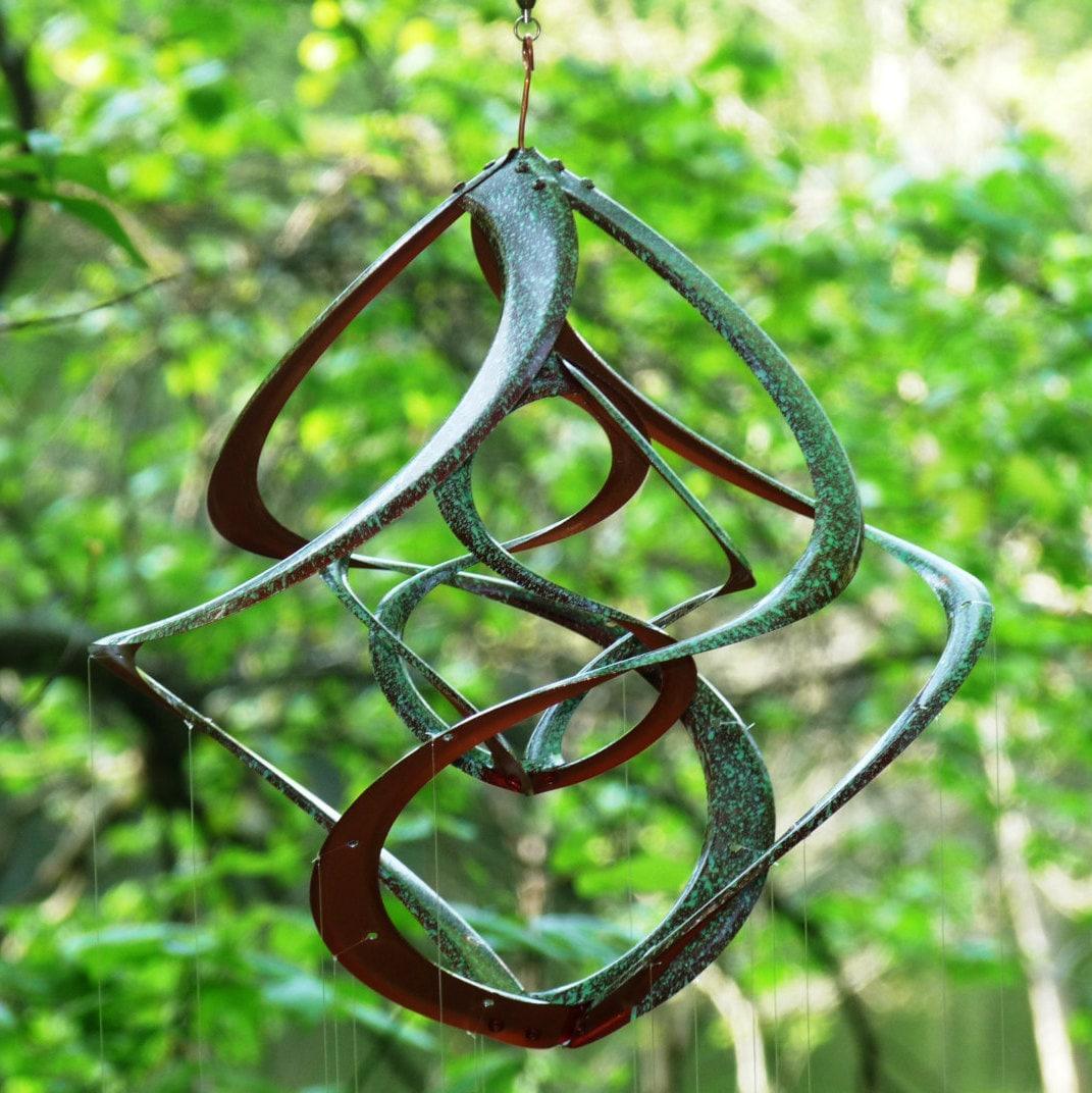 Bronze Patina Spiral Cosmix Wind Spinner & School of Spoon