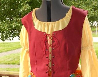 Womens Renaissance Vest - Vest ONLY - pirate costume - hocus pocus - womens pirate vest - renaissance costume - wench