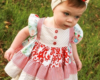 Baby Nova's Square Flutter Top and Dressi PDF Pattern Sizes newborn to 18/24 mos
