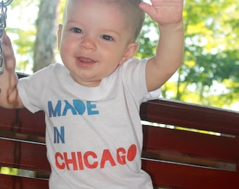 Made in Chicago Baby Onesie