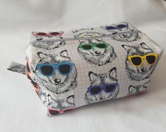 Cool AF Wolves Box Zipper Pouch