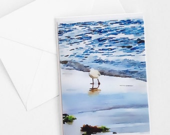 Greeting Card/Photo Art Card/Seagull on the Beach