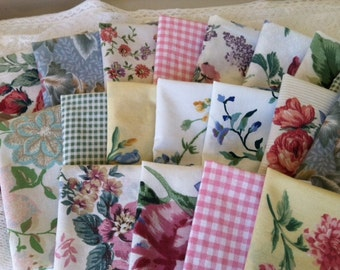 Shabby Chic, Farmhouse Chic, Cloth Napkins, 10 inch, Set of 6, by CHOW with ME