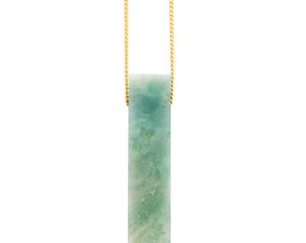Green Amazonite Long Necklace