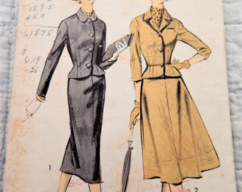 FACTORY FOLDED Vintage Advance Pattern 8443 Ladies Suit Size 12 Bust 32