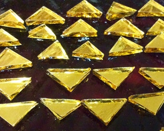 GOLD TRIANGLE MIRROR Tiles Colored Glass Mirror Mosaic Tile Supply M7