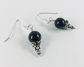 Sterling and Garnet Earrings