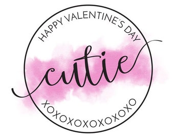 Valentines Day Printable Digital Poster Card - Cutie - XOXO