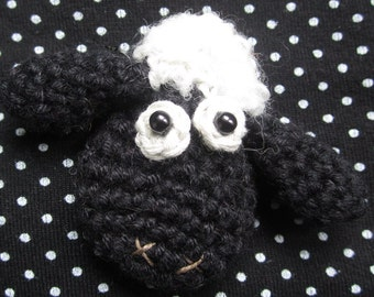 Crochet Pattern for Bramble the Sheep Brooch