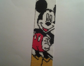 Beaded Mickey Mouse Bracelet cuff