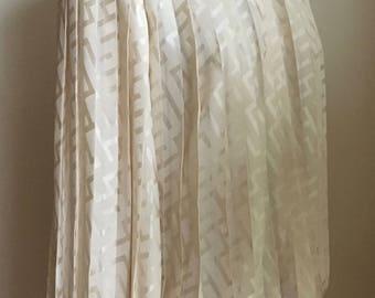 Luxurious Vintage 1980s Silk Cream Accordion Pleated Blouse/Shirt/Jerri Sherman