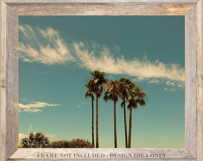 "Featured listing image: Photography PRINT OR CANVAS - Wall Art Decor - ""Florida Palms"""