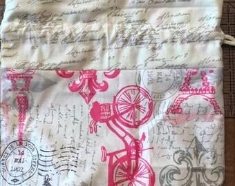 Vintage Paris Project Bag
