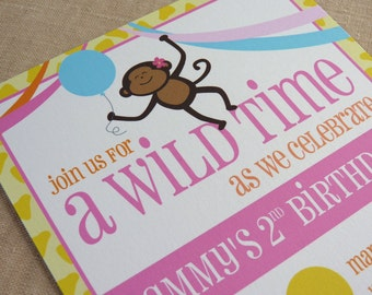 Printable / Zoo Party Invitation