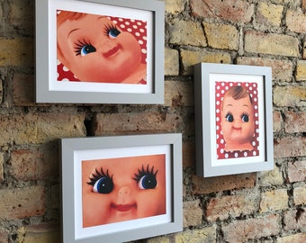 Cute doll face prints