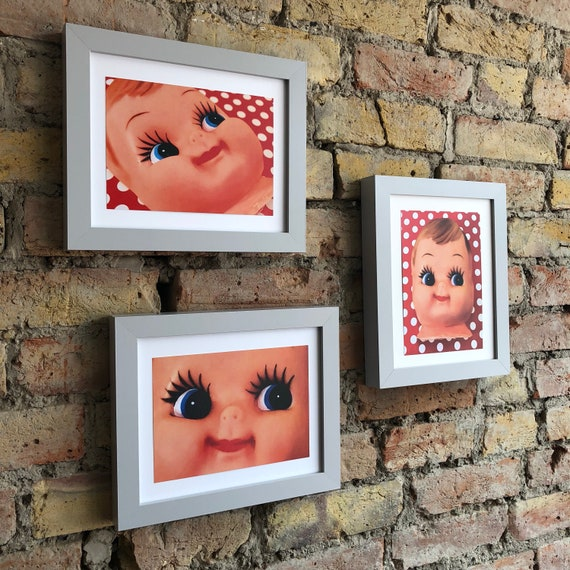 Cute doll face prints