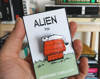 Alien red house Pin