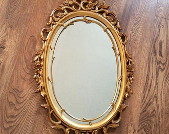 Ornate Syroco Gold Guilded Mirror and Frame