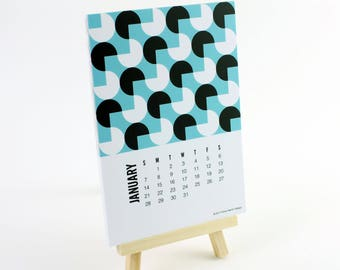 2018 Mini Desk Calendar with Easel Stand