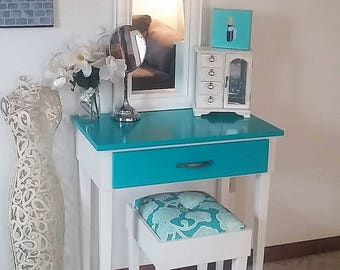 Custom Colored Makeup Vanity Table