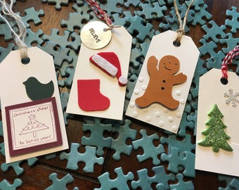 Holiday gift tags - Set of 4