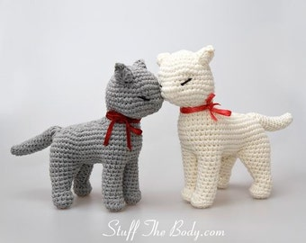 Cat Amigurumi Pattern,  seamless crocheted kitten instructions, baby shower, birthday gift, diy present, home decor, toy pattern