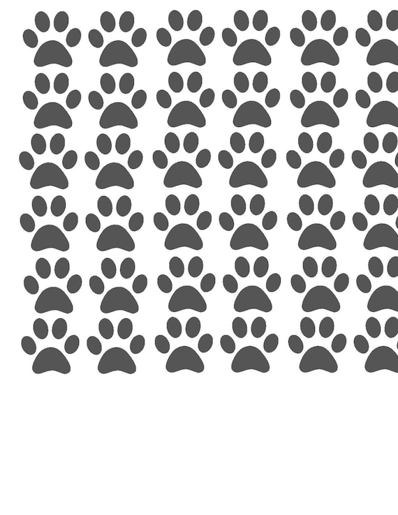 Paw print tanning stickers pet print paw print lines decals