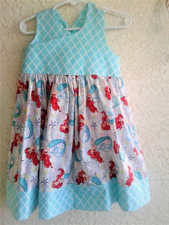 Ariel,Little Mermaid Dress, Disney Princess dress, Baby Princess Dress, Birthday Dress, Disney Vacation dress,FREE SHIPPING, Ariel Sundress