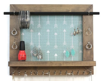 Necklace Jewelry Organizer - Wall Hanging Jewelry Display - Jewelry Storage