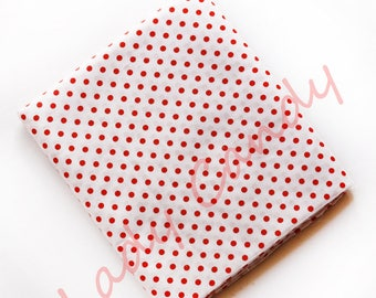 45x50cm red dot fabric / Cotton / sewing Patchwork making garment #7326