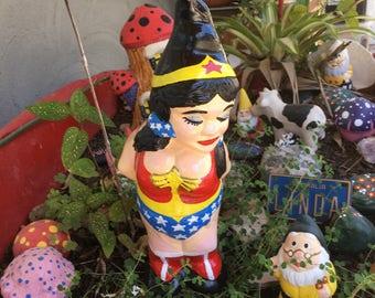 Wonder Woman Gnome