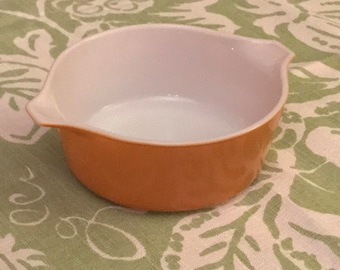 1960s PYREX Caserolle Dish/Mixing Bowl #472 1.5 Pints Solid Harvest Gold
