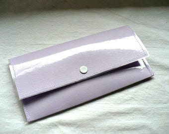 Porte-cartes, portefeuille carte de crédit, le portefeuille, porte-cartes, portefeuille mince, plastique porte monnaie à pression pour les femmes, 3.25 x 7 pouces