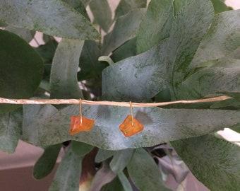 Handmade earrings with gemstones