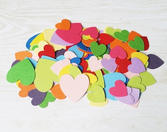 Rainbow Hearts handmade confetti, birthday party, table scatters, colourful party, same sex wedding, colourful wedding decor, kids party