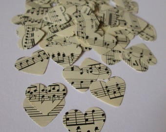 BULK Music Confetti | Sheet Music | 1000 paper hearts