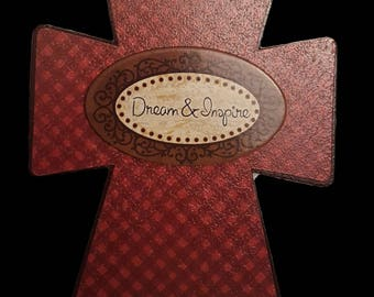Dream And Inspire Decorative Wooden Cross