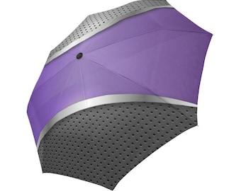 Purple Umbrella Grey Umbrella Designed Umbrella Metallic Pattern Umbrella Art Umbrella Photo Umbrella Automatic Foldable Umbrella