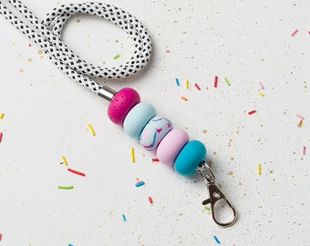 Lanyard, Teacher lanyard, ID holder, Necklace lanyard, ID badge, Blue Holder lanyard, Keychain lanyard, Badge holder, Pink Lanyard ID