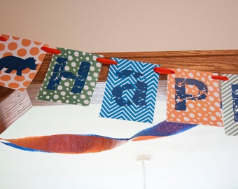 Stomp, Stomp, Roar! | Dinosaur birthday banner instant download