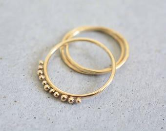 Minimalist ring, solid gold ring, free shipping, delicate gold ring, 14k gold simple ring, wedding ring, engagement ring, stackable rings